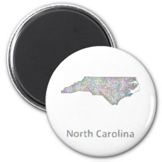North Carolina map Magnet