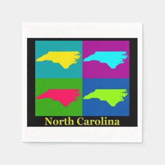 North Carolina Map Paper Napkin