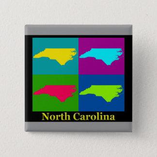 North Carolina Map Pinback Button
