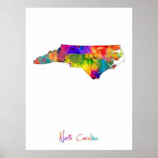 North Carolina Map Poster