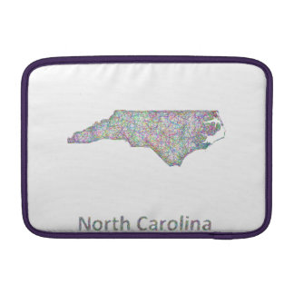 North Carolina map Sleeve For MacBook Air
