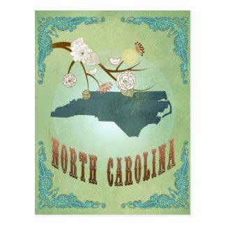 North Carolina Modern Vintage State Map – Green Postcard
