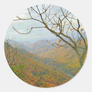 North Carolina Mountain Scenery Classic Round Sticker