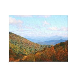 North Carolina Mountains Canvas Print