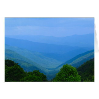 North Carolina Mountains Greeting Card