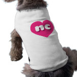 North Carolina nc hot pink heart Dog Tee