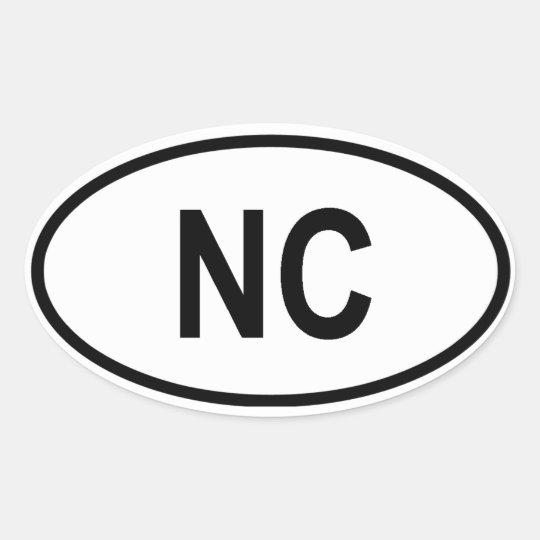 "North Carolina ""NC"" Oval Sticker"