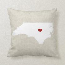"North Carolina New Home State Pillow 16"" x 16"""