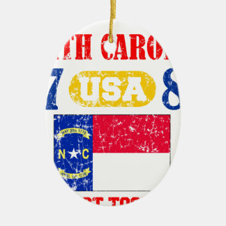 NORTH CAROLINA PERFECT TOGETHER DISTRESSED PRODUCT CHRISTMAS ORNAMENTS