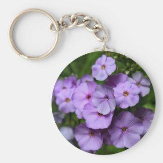 North Carolina Phlox Flowers Basic Round Button Keychain