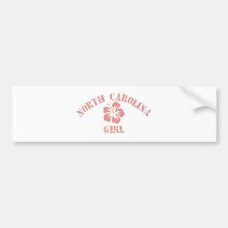 North Carolina Pink Girl Bumper Stickers