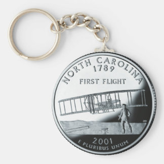 North Carolina Quarter Keychain