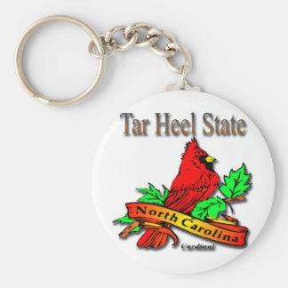 North Carolina Red Cardinal Basic Round Button Keychain