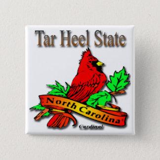 North Carolina Red Cardinal Pinback Button