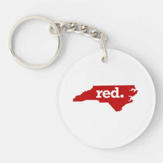 NORTH CAROLINA RED STATE KEYCHAIN