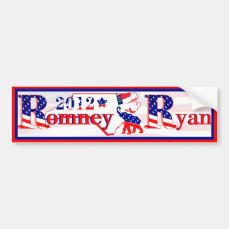 North Carolina Romney and Ryan 2012 Bumper Sticker