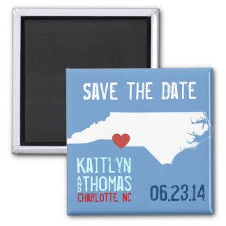 North Carolina Save the Date - Customizable City Refrigerator Magnets
