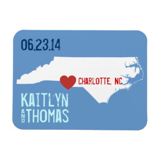 North Carolina Save the Date - Customizable City Magnet