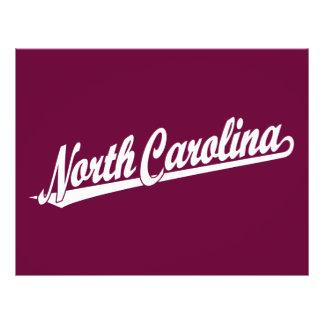 North Carolina script logo in white Flyer