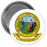 North Carolina Seal 4 Inch Round Button