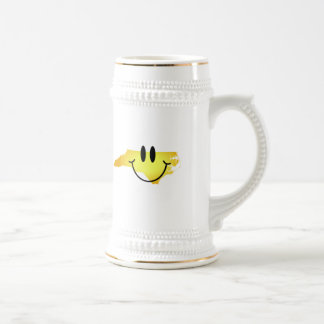 North Carolina Smiley Face 18 Oz Beer Stein