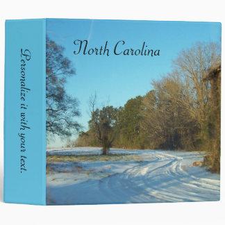 North Carolina - Snowy Path Binder