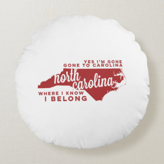 north carolina | song lyrics | crimson round pillow