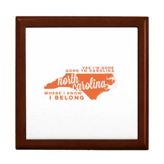 north carolina | song lyrics | orange jewelry box