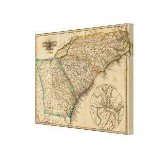 North Carolina, South Carolina, Georgia Canvas Print