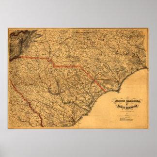 North Carolina & South Carolina Poster