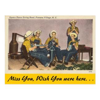 North Carolina, Square Dance Band, Fontana Village Postcard