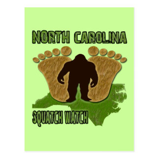 North Carolina Squatch Watch Postcard