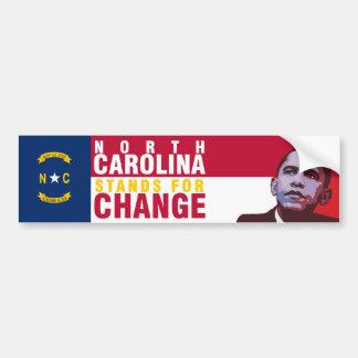 North Carolina Stands for Change - Bumper Sticker Car Bumper Sticker