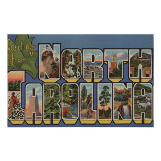 North Carolina (State Capital/Flower) Poster