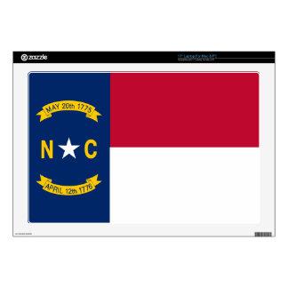 """North Carolina State Flag 17"""" Laptop Skins"""
