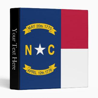 North Carolina State Flag 3 Ring Binder