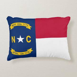 North Carolina State Flag Accent Pillow