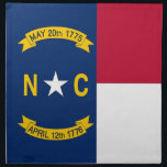 "North Carolina State Flag American MoJo Napkin<br><div class=""desc"">Elegant American MoJo Napkin with Flag of North Carolina State. United States Of America. This product its customizable.</div>"