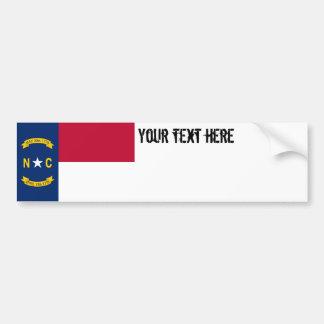 North Carolina State Flag Bumper Sticker