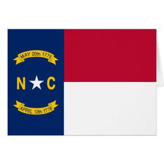 North Carolina State Flag Card