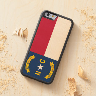 North Carolina State Flag Carved Maple iPhone 6 Bumper Case