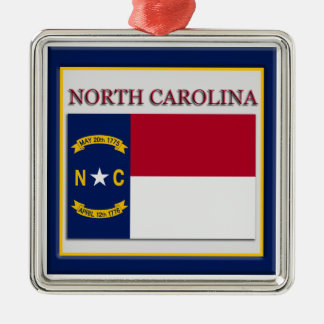 North Carolina State Flag Christmas Ornament