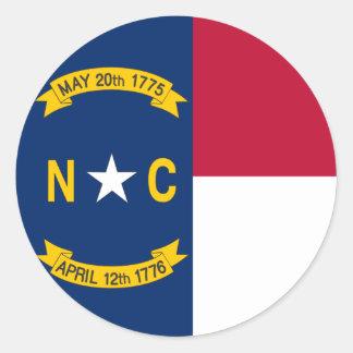 North Carolina State Flag Classic Round Sticker