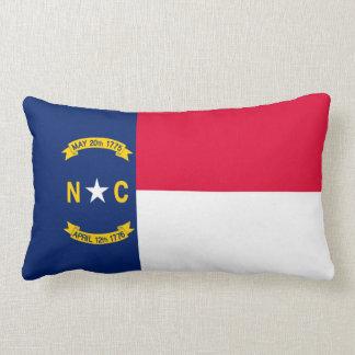 North Carolina State Flag Design Lumbar Pillow