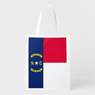 North Carolina State Flag Design Market Tote