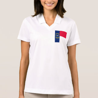 North Carolina State Flag Design Polo T-shirts