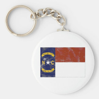 North Carolina State Flag (Distressed) Key Chains