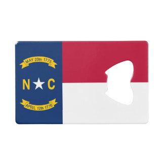 North Carolina State Flag Wallet Bottle Opener