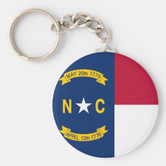 North Carolina State Flag Keychain