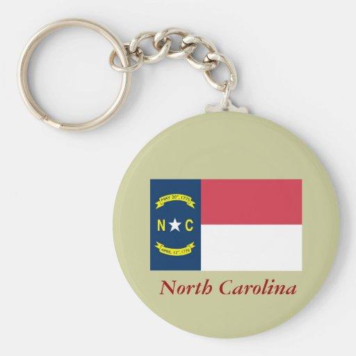 North Carolina State Flag Keychains